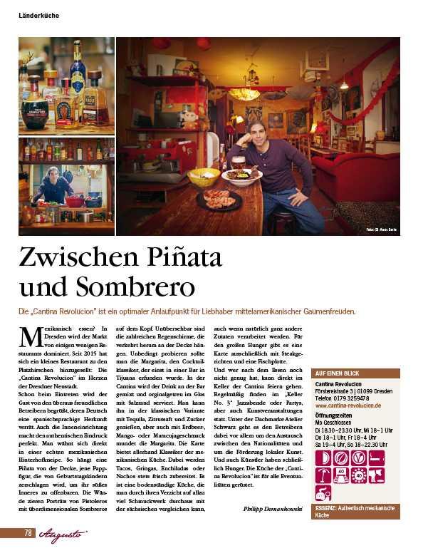 Cantina Revolucion Zwichen Pinata und Sombrero